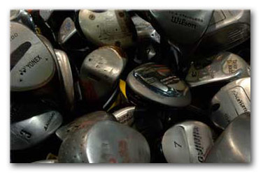used golf equipment heads graphic